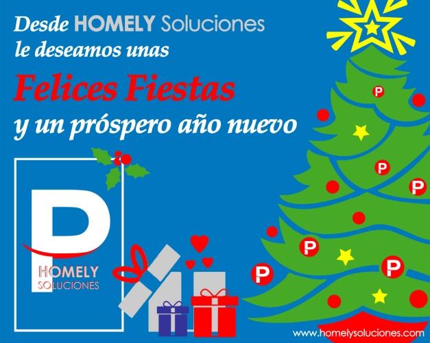 HOMELY Soluciones les desea ¡¡¡Felices Fiestas!!!