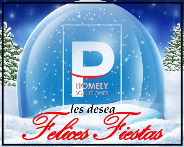 HOMELY SOLUCIONES os desea ¡¡¡ Feliz Navidad, Felices Fiestas y Próspero Año 2.016 !!!