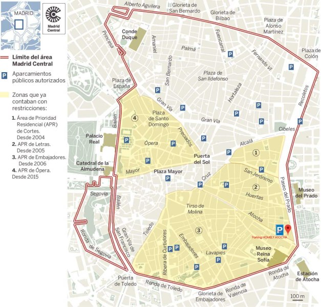 Plano del área A.P.R. Madrid Central